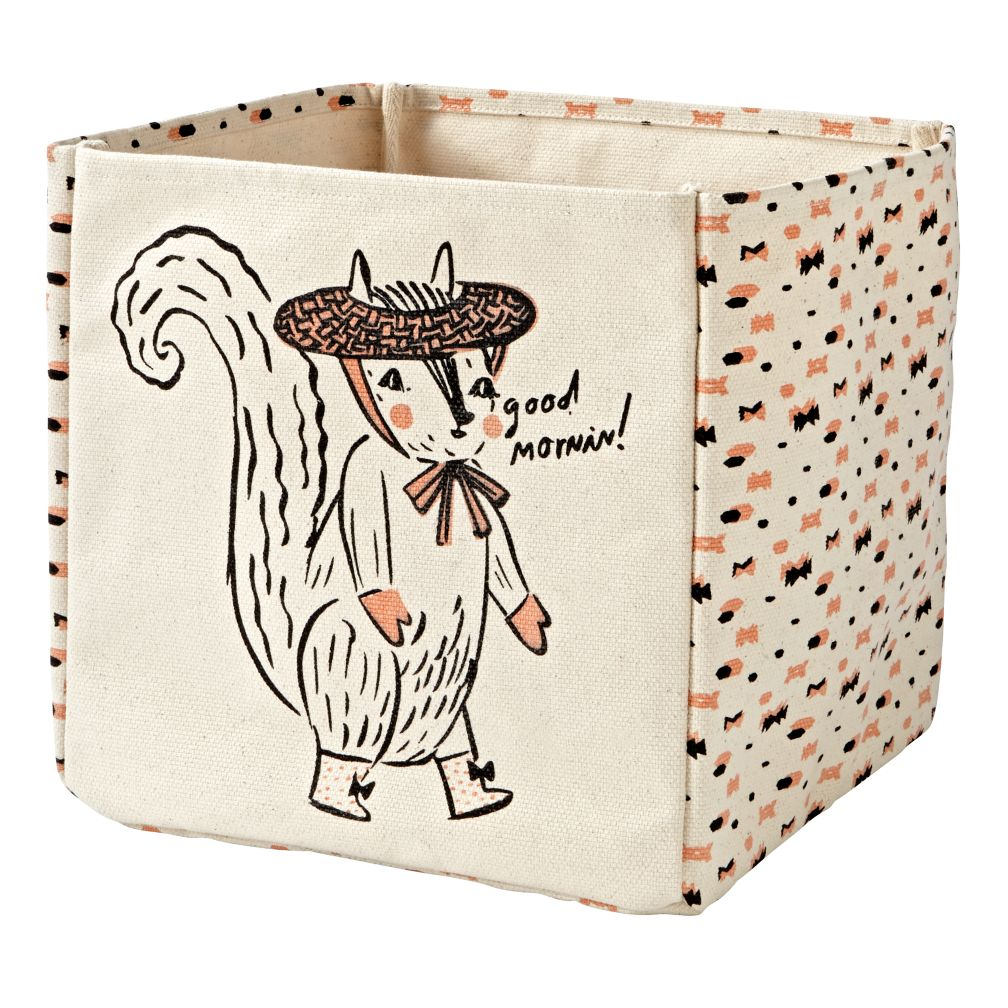 Forest Etiquette Squirrel Cube Bin