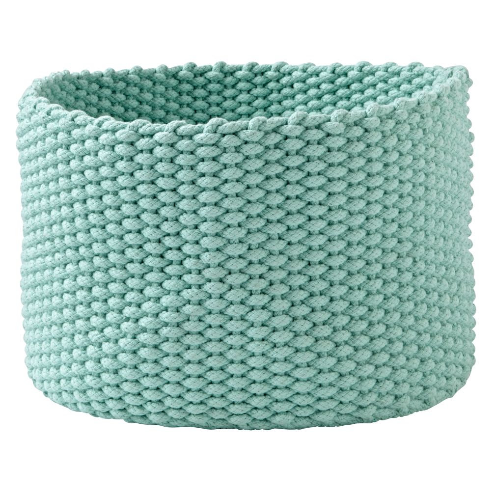 Kneatly Knit Large Mint Rope Bin