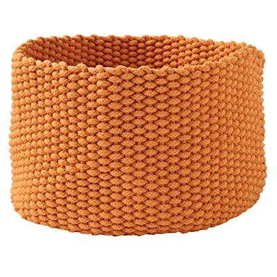Kneatly Knit Large Orange Rope Bin