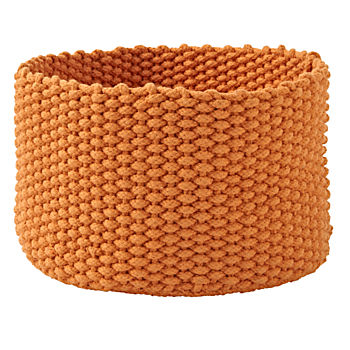 Kneatly Knit Medium Orange Rope Bin