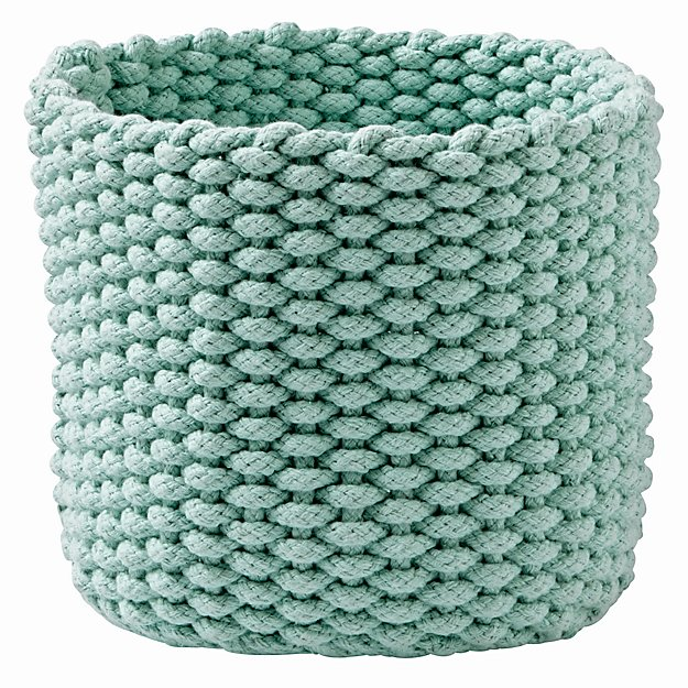 Knitting Rope For Sale : Kneatly knit small rope bins the land of nod