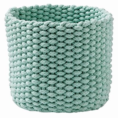 Kneatly Knit Small Mint Rope Bin