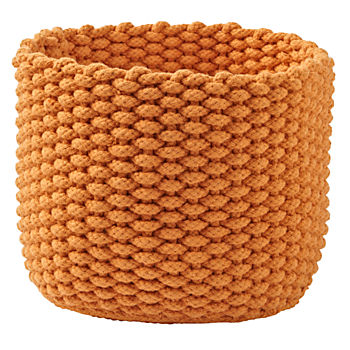 Kneatly Knit Small Orange Rope Bin