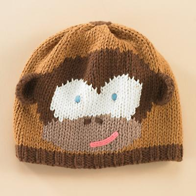 0-3 mos. Brown Monkey Hat
