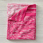 Blended Knit Pink Baby Blanket