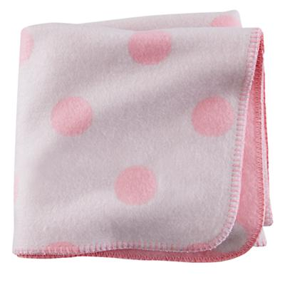 Pitter Pattern Blanket (Pink Polka Dot)