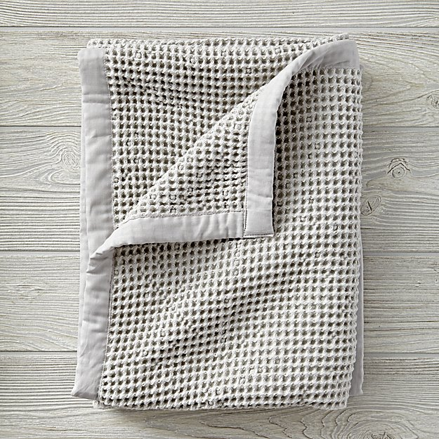 Snuggle Up Grey Baby Blanket