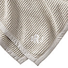 Personalized Snuggle Up Grey Baby Blanket