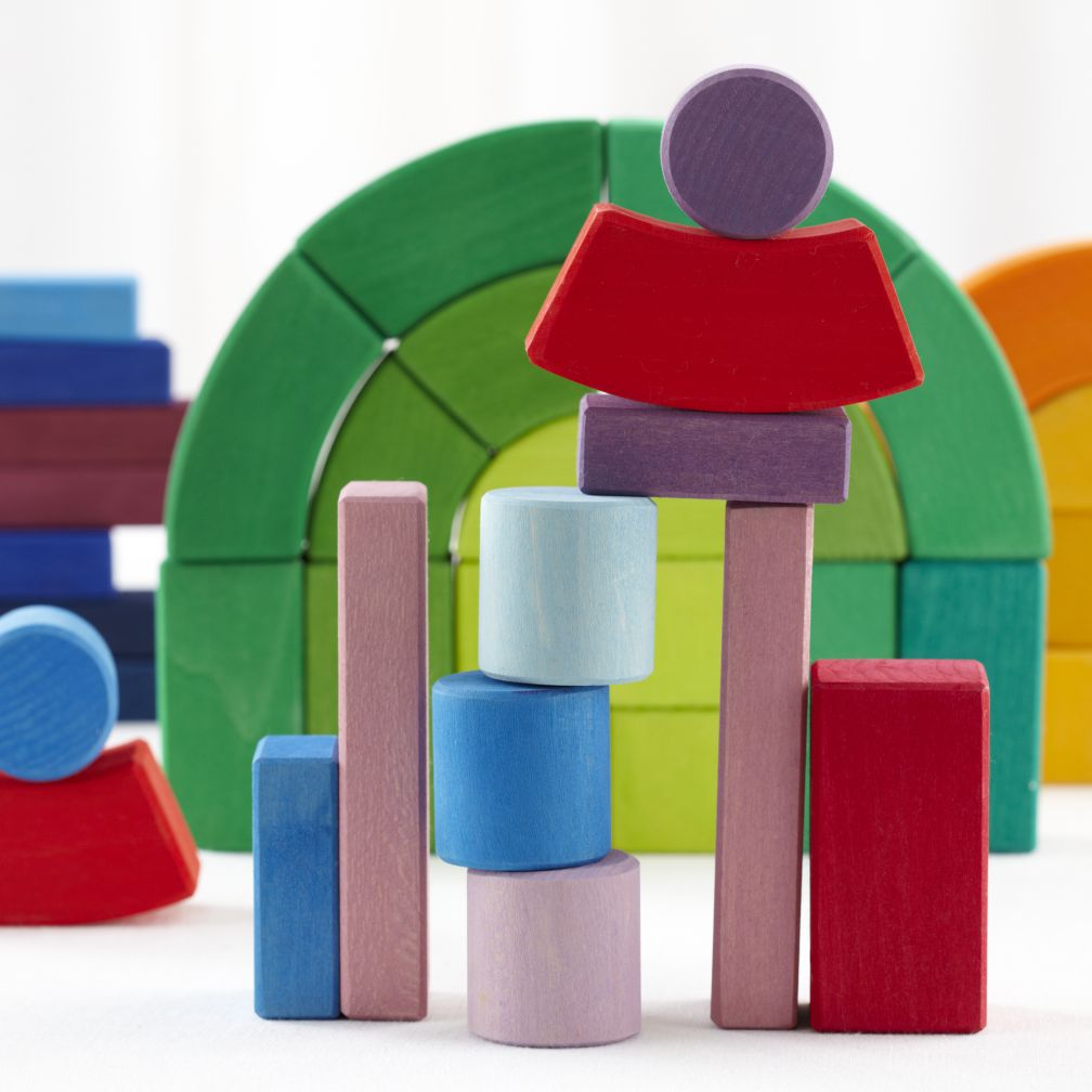 Child craft wooden blocks - The Big Box Of Colorful Wooden Blocks