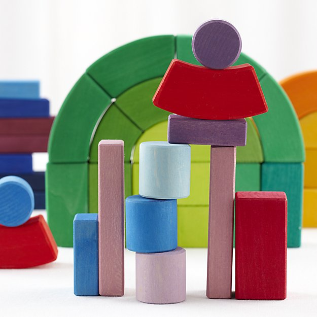 Grimm's Big Box of Colorful Wooden Blocks
