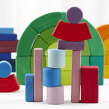 The Big Box of Colorful Wooden Blocks