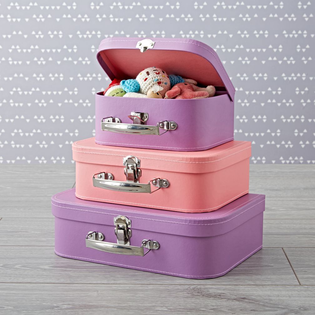 Bon Voyage Pink and Purple Suitcase Set