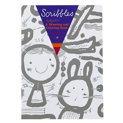 Scribbles Drawing and Coloring Book