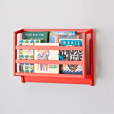 On the Wall Book Bin (Warm Red)