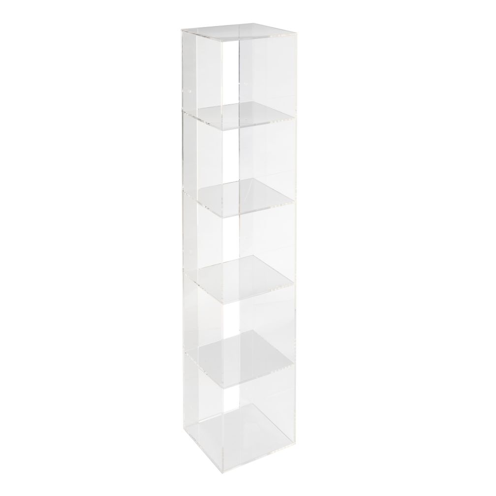 trunk clear multi storage office bookcase lucite bookcases organizer lux chest acrylic onelux plexiglass home item one box use functional