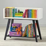Alto Bookcase (White/Midnight Blue)