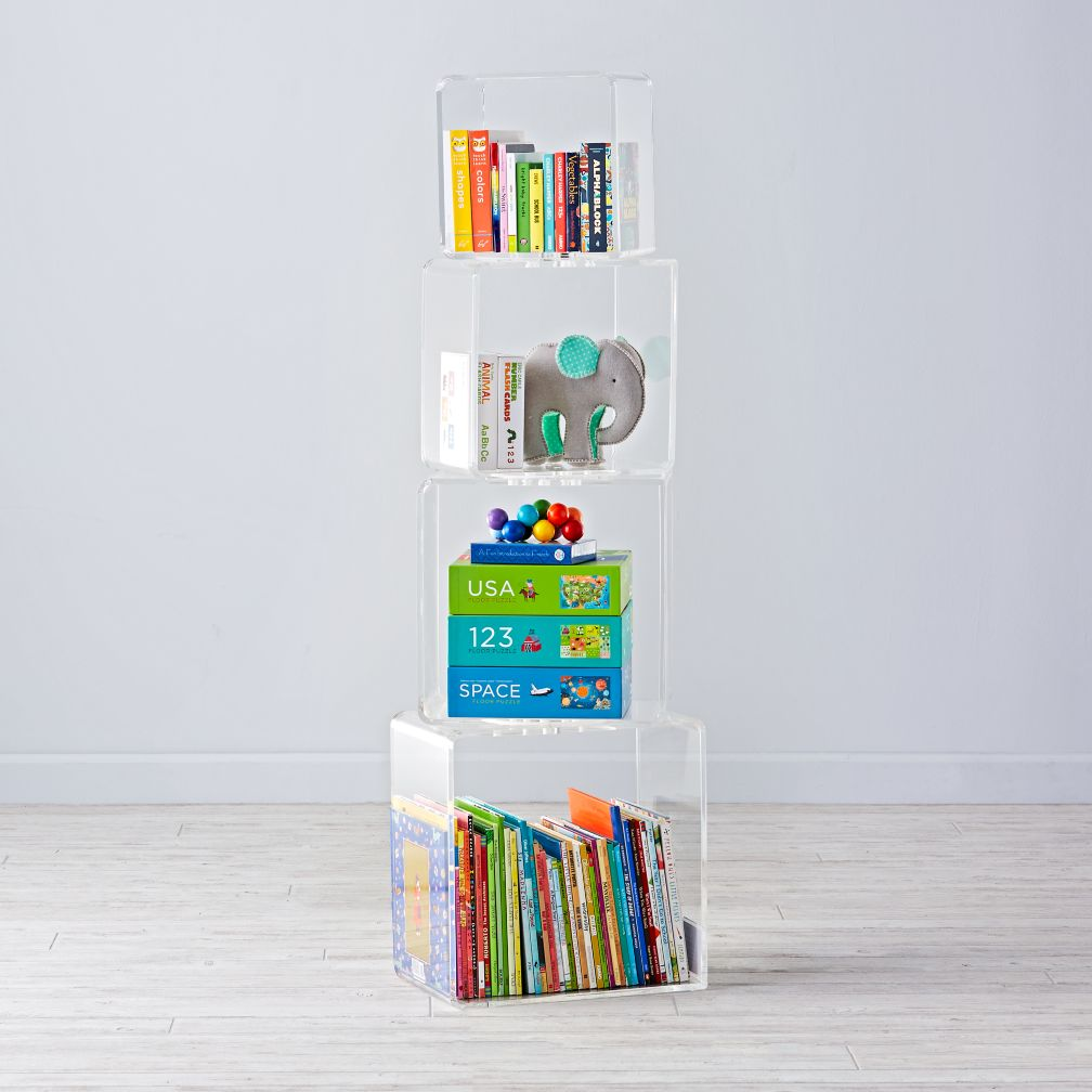 Block Tower Acrylic Bookcase