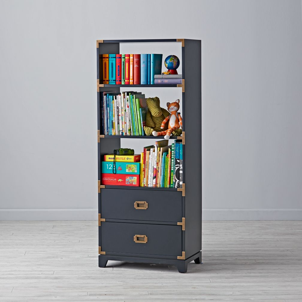 Campaign Bookcase (Midnight Blue)