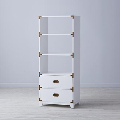 Campaign Bookcase (White)