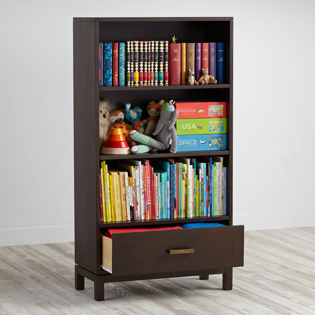 cargo bookcase with drawer