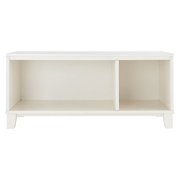 District Storage White 2-Cube Frame