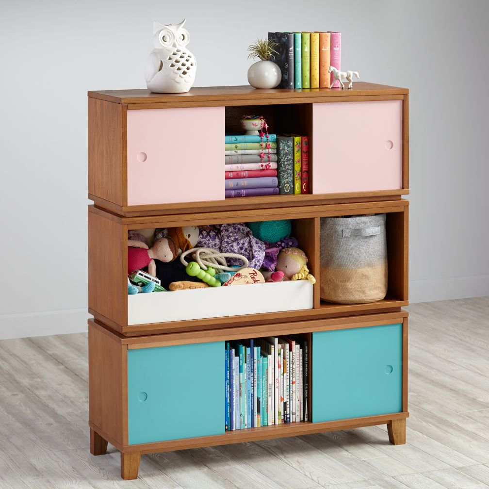 district storage bench bookcase wheat the land of nod. Black Bedroom Furniture Sets. Home Design Ideas