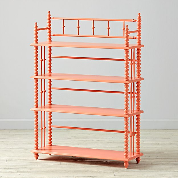 jenny lind coral bookcase the land of nod