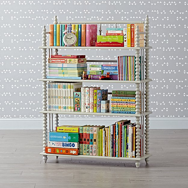 Jenny Lind Light Grey Bookcase
