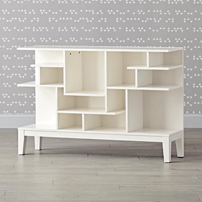 Bookcase_Modern_Maze_Wide_White_LL_SQ