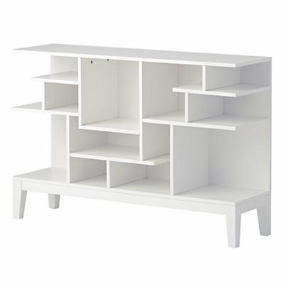 Bookcase_Modern_Maze_Wide_White_Silo_V1