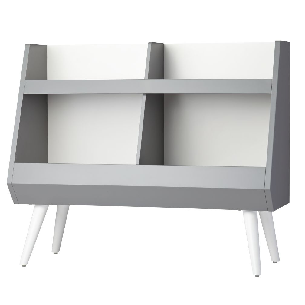 Next Chapter Grey and White Bookcase
