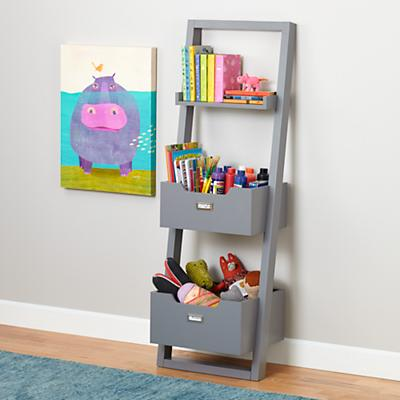 Little Sloane Leaning Bookcase (Grey)