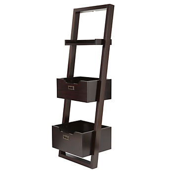 Little Sloane Java Leaning Bookcase