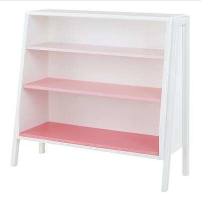 Graduated Wide Bookcase (Pink Shelves)