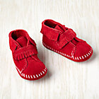 Size 1 (0-3 mos.) Red Front Strap Fringe Bootie