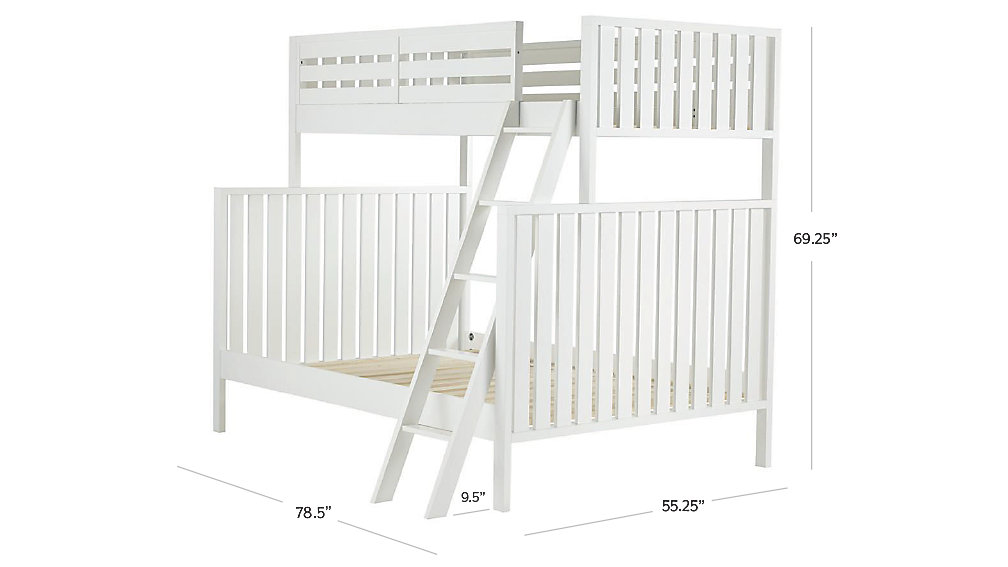 cargo white twin over full bunk bed | the land of nod