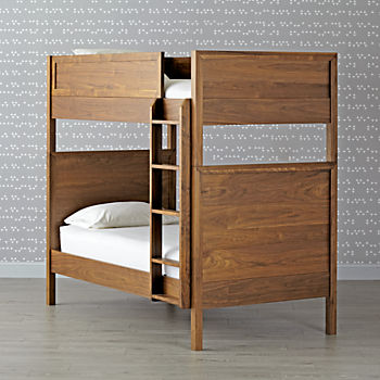 Taylor Walnut Twin-Over-Twin Bunk Bed