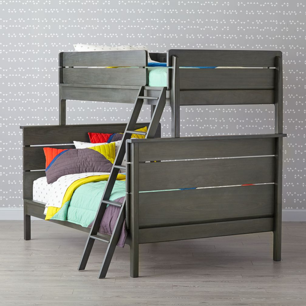 Wrightwood River Blue Twin-Over-Full Bunk Bed