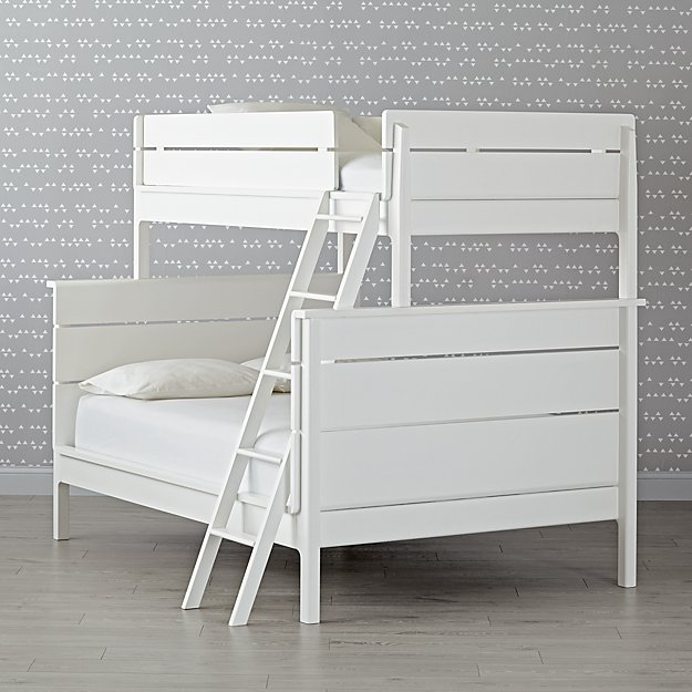 Wrightwood White Twin-Over-Full Bunk Bed