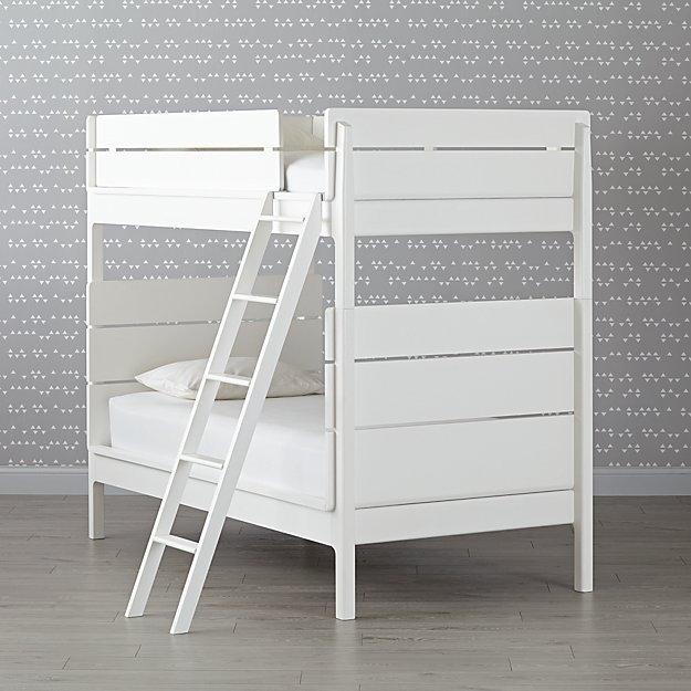Wrightwood White Twin-Over-Twin Bunk Bed