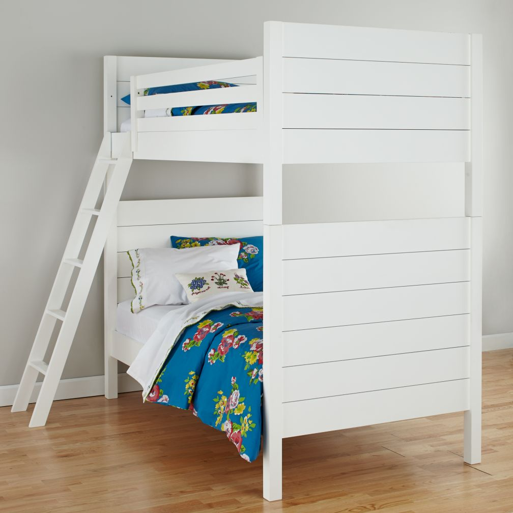 Uptown White Twin Bunk Bed