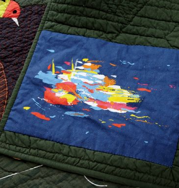Patch on Quilt from The Land of Nod