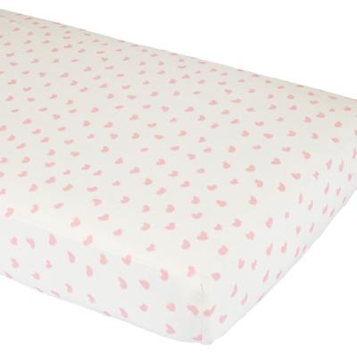 I Heart Crib Fitted Sheet
