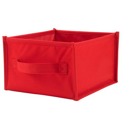 I Think I Canvas Shelf Bin (Red)