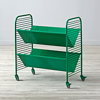 Eric Trine Linear Green Book Cart