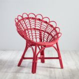Antoinette Rattan Pink Kids Chair