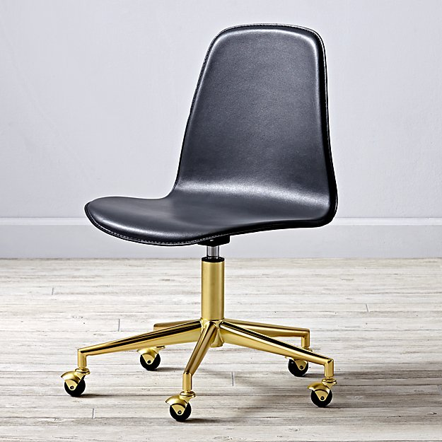 Class Act Grey & Gold Desk Chair