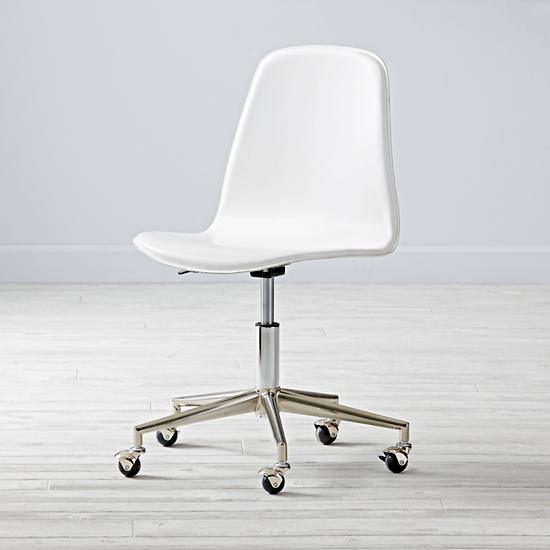 White Silver Class Act Desk Chair The Land Of Nod