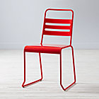 Red Metal Desk Chair