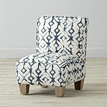 Petite Upholstered Chair (Tribal Vintage Indigo)